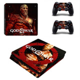 God of War PS4 Slim Skin Sticker For Sony PlayStation 4 Console and 2 Controllers PS4 Slim Stickers Decal Vinyl 0