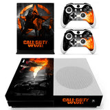 Call of Duty WWII Skin Sticker Decal For Microsoft Xbox One Slim Console and 2 Controllers Skin Sticker