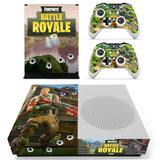 Fortnite Theme Skin Sticker Decal for Xbox One Slim and 2 Controller Skin Stickers