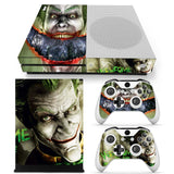 Joker Vinyl Skin Sticker Protector and 2 controller skins Stickers for  Xbox One Slim Console