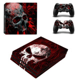 Redeemer Skull Design Protector Skin Sticker Cover Wrap For PS4 Pro Console