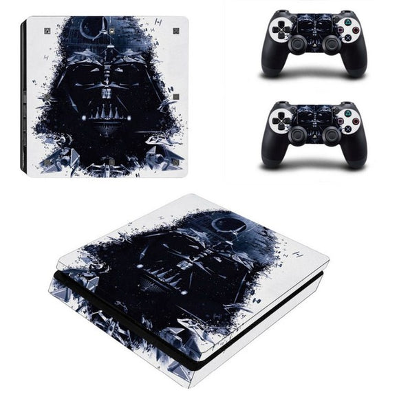 Star Wars Style  Skin For PS4 Slim Console Cove + 2 Stickers for Controller