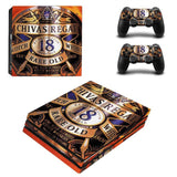 PS4 Pro Scotch and Whiskey Skin Sticker and 2 PCS Controller Skin Decal