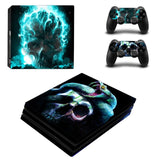Ghost Rider Skull Design Protector Skin Sticker Cover Wrap For PS4 Pro Console