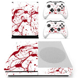 Blood Red Xbox One Slim Sticker Decal Skin with 2 Controller Stickers