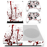 Blood Red Xbox One Slim Sticker Decal with 2 Controller Stickers