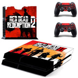 Red Dead Redemption II Sticker Set for PS4 Console Set
