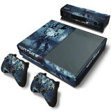 Various Skin Decal Sticker with 2 Pcs Controller Sticker for Xbox One Console