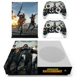 PlayerUnknown's Battlegrounds Style Sticker for Microsoft Xbox One S Console.
