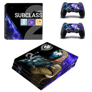 Destiny 2 Style Skin Sticker PS4 Pro Console Sticker Skin Set