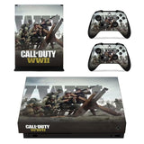 Call of Duty: WWII Vinyl Skin Decal Cover Console & Controller Decal Stickers for Xbox One X Console + Controller Skin