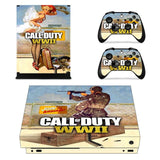 Call of Duty WWII  COD WWII Xbox One X Console Skin Sticker with Controller Stickers