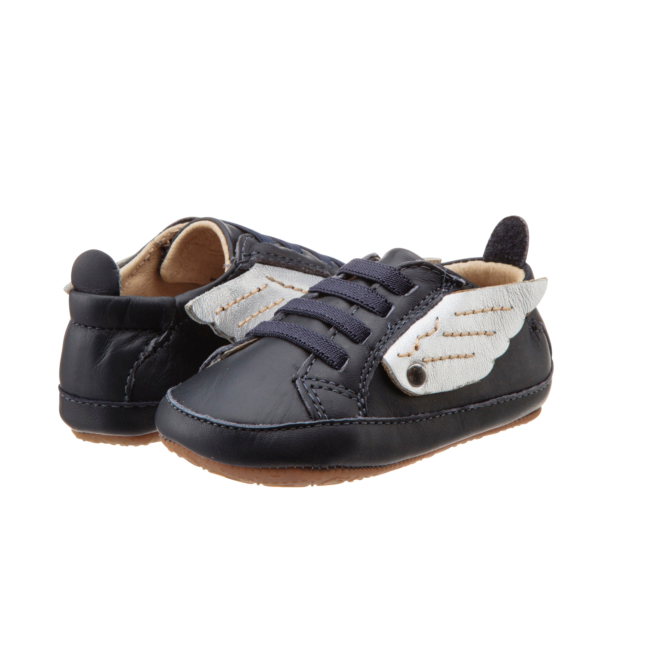 Bambini Wings - Navy Silver