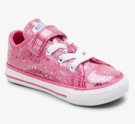 All star Converse - glitter pink with stars
