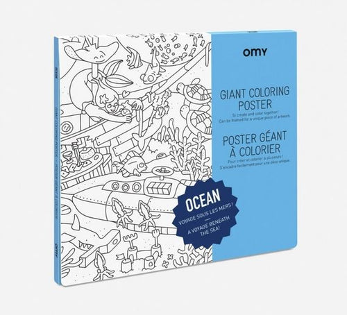 POSTER Large frameable coloring poster - OCEAN