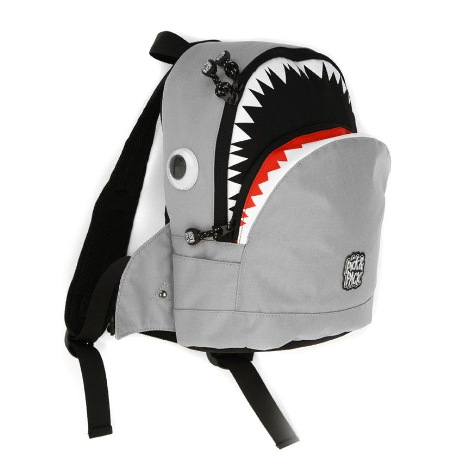 תיק גן - Backpack Mini Shark grey