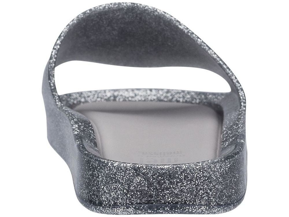 MEL beach slide - glass silver glitter