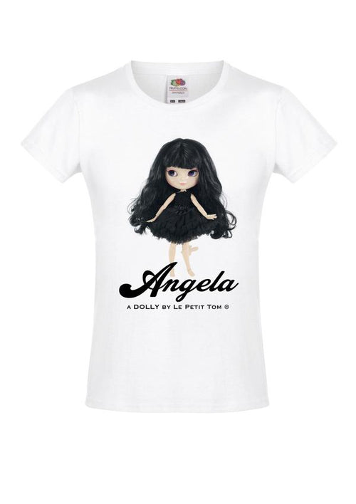 T-SHIRT ANGELA DOLL BLACK