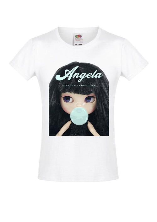 T-SHIRT ANGELA DOLL - BLACK BUBBLEGUM