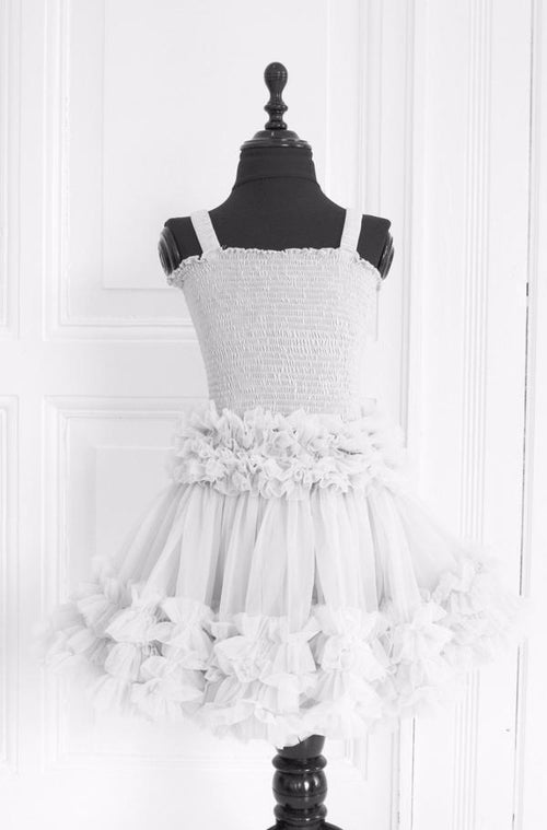 FRILLY SET SKIRT & TOP - WHITE
