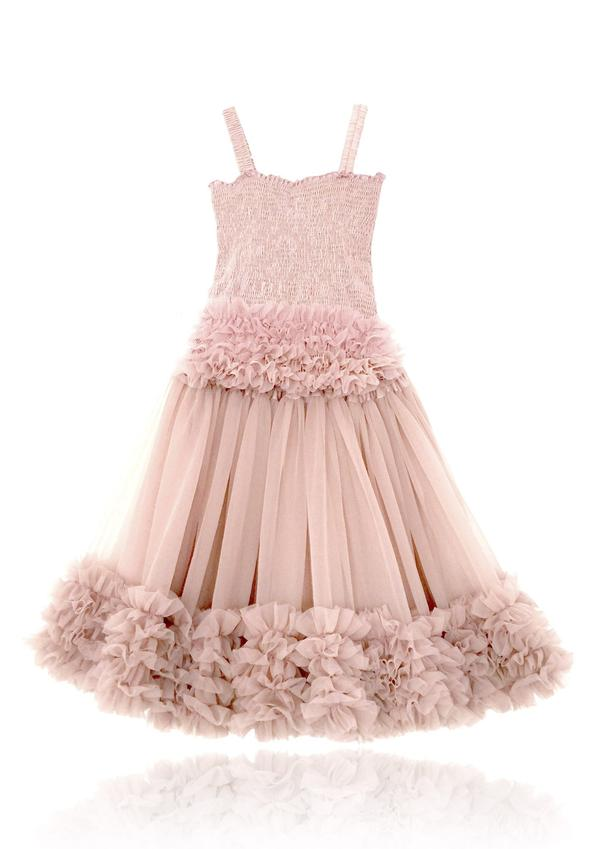 FRILLY SET SKIRT & TOP - BALLET PINK
