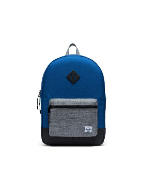 Heritage Backpack XL Youth - monaco blue/black/raven crosshatch