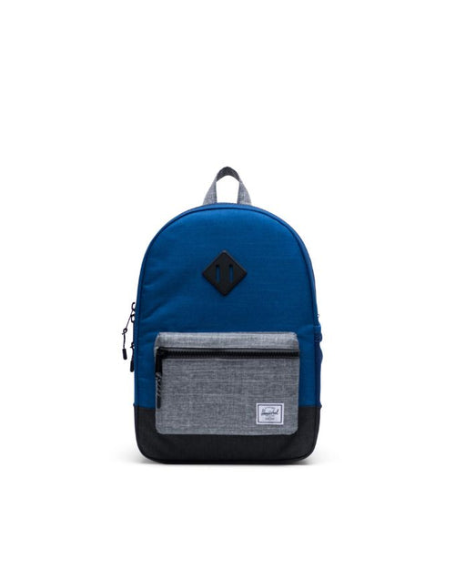 Heritage Backpack Youth - monaco blue/black/raven crosshatch