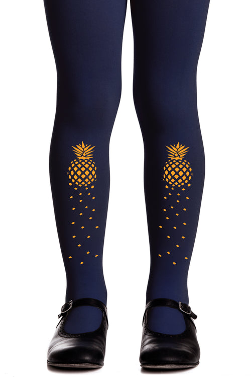 PINEAPPLE GIRLS NAVY TIGHTS