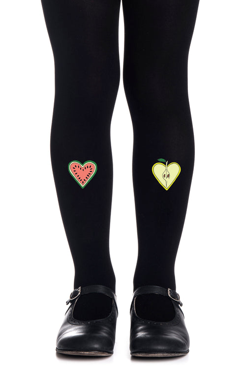 FRUIT COCKTAIL GIRLS BLACK TIGHTS