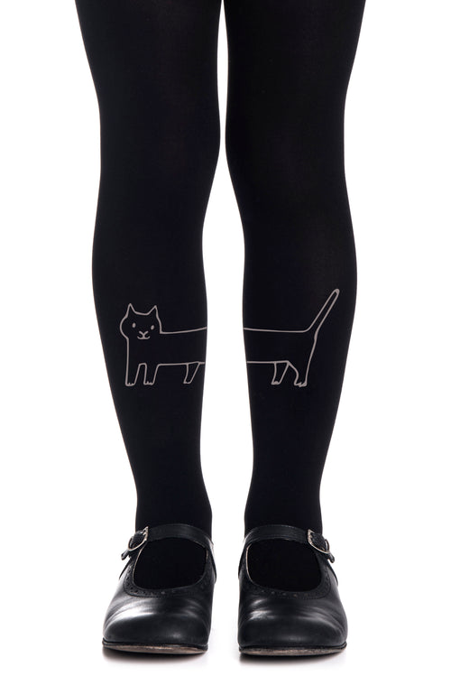 LONG CAT GIRLS BLACK TIGHTS