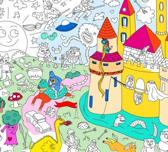 POSTER Large frameable coloring poster - MAGIC