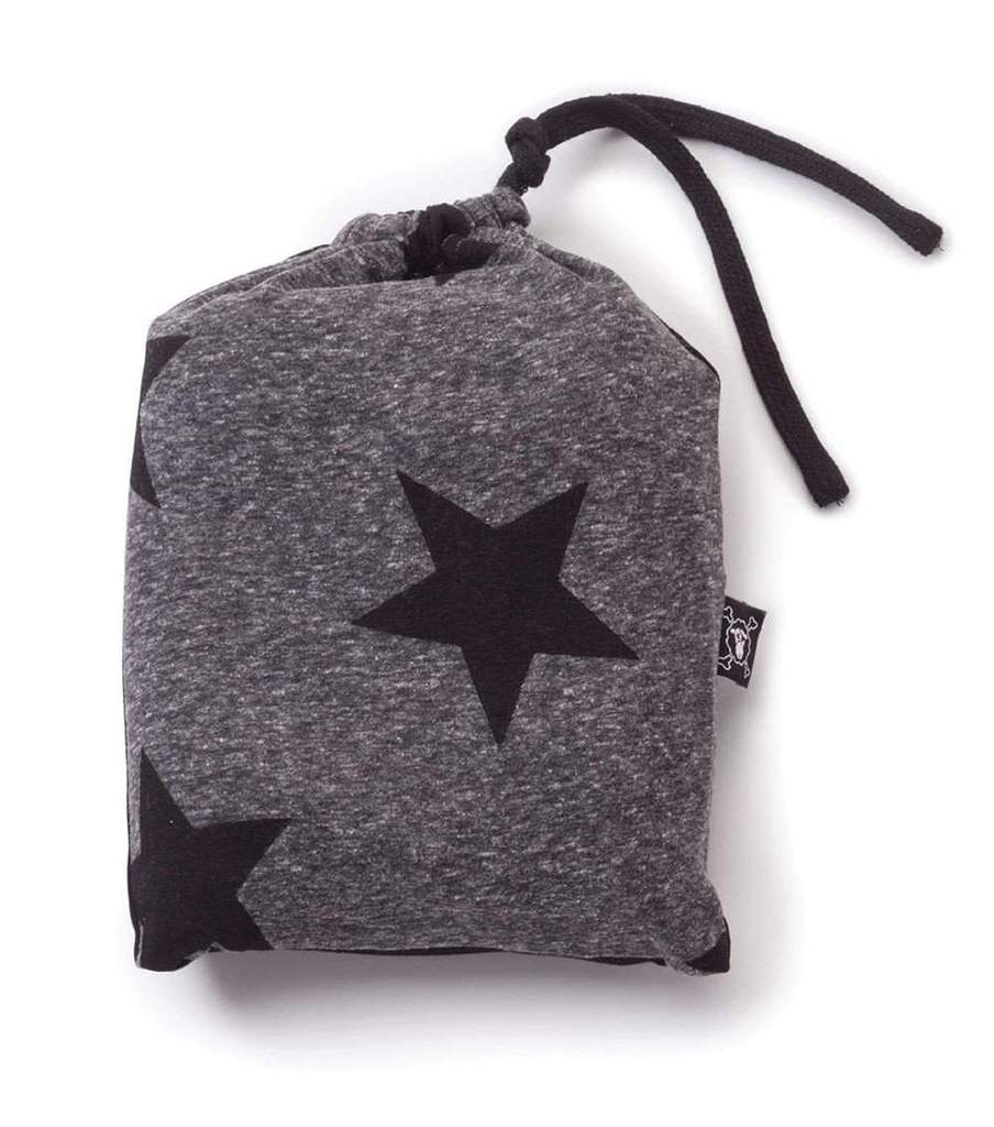 star baby blanket - charcoal grey