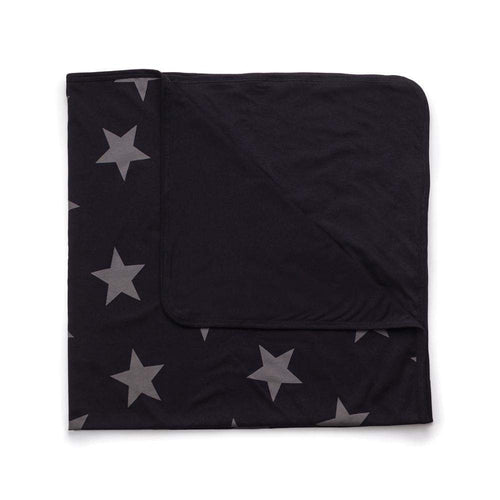 star baby blanket - black
