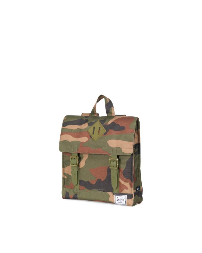 Survey Backpack Kids - Woodland Camo Army Rubber