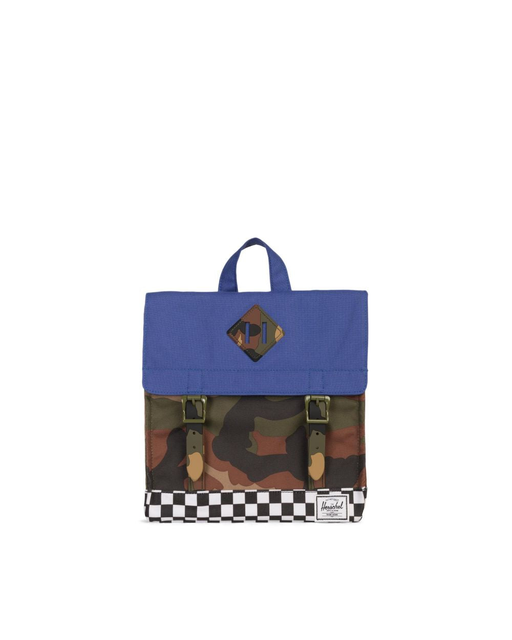 Survey Backpack Kids - Deep Ultramarine/Checker/Woodland Camo