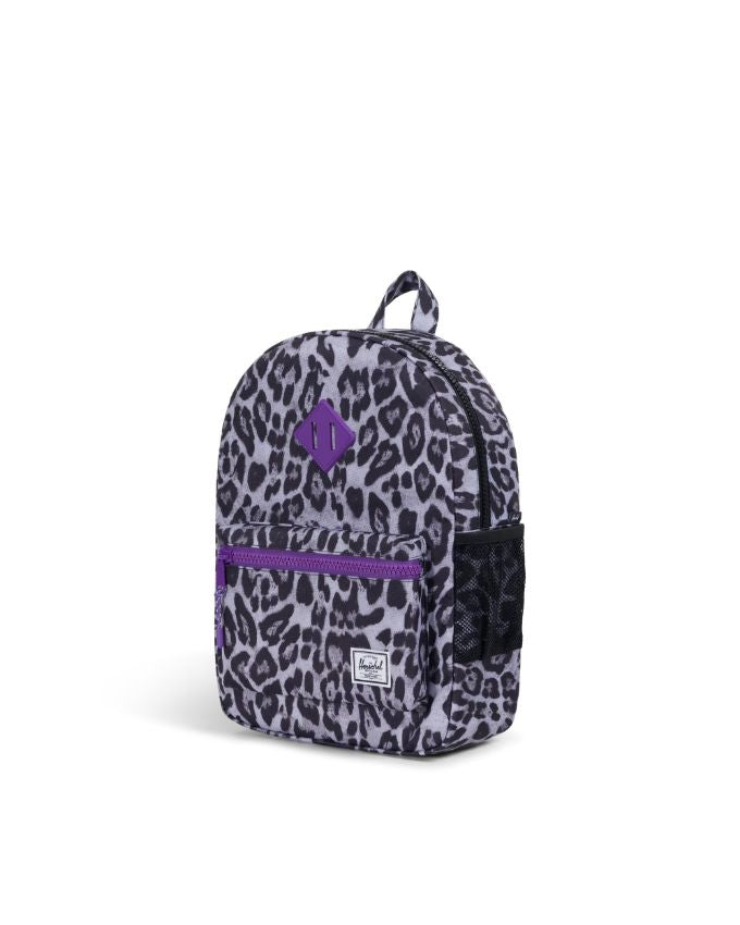 Heritage Backpack Youth - Snow Leopard\Deep Lavender