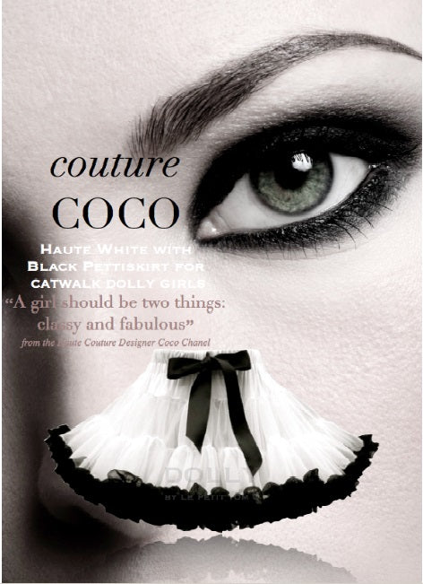 COCO PETTISKIRT - WHITE & BLACK