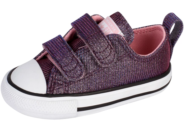 All star Converse - purple glitter