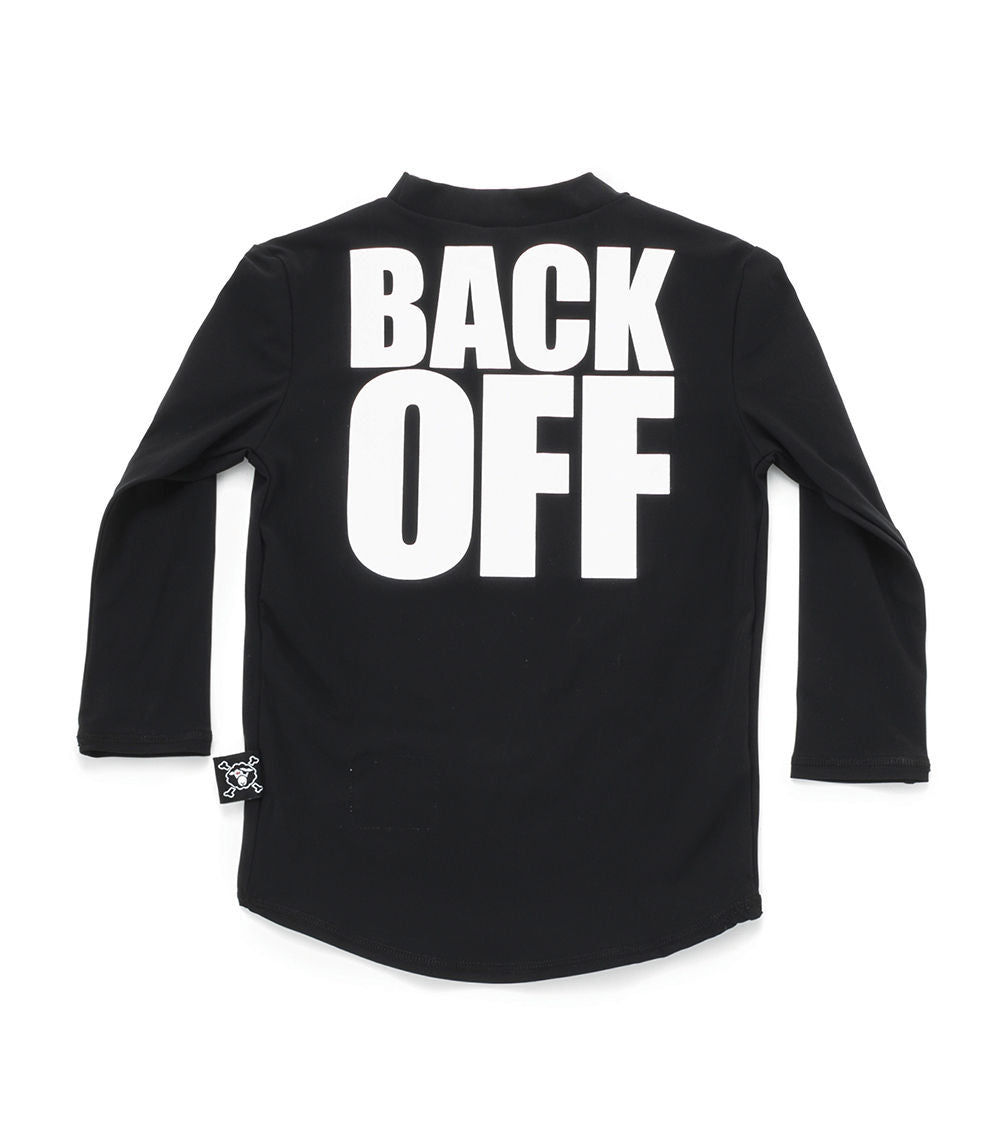 back off long sleeved rashguard - black