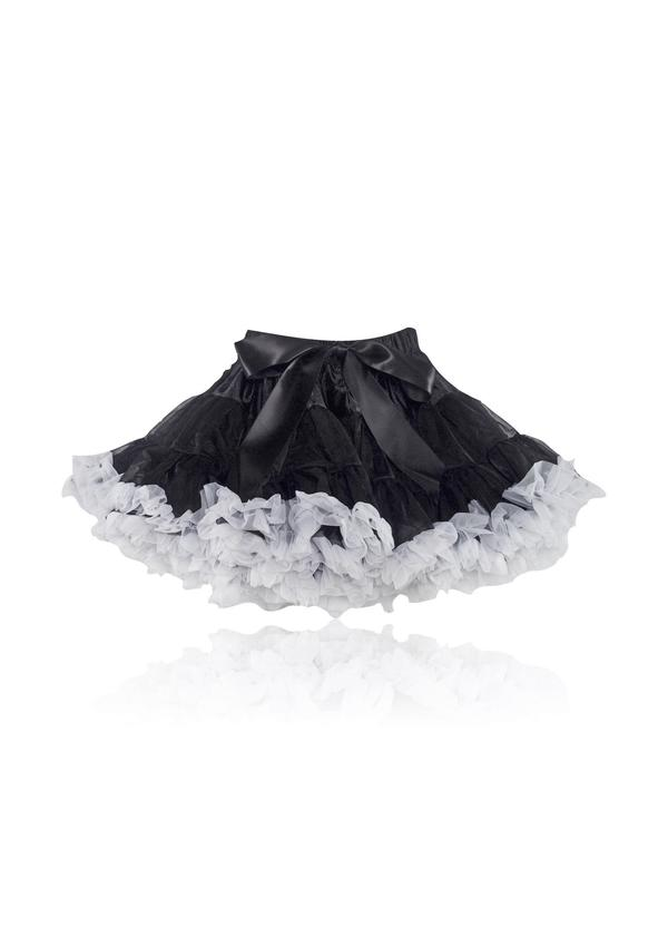 BLACK BEAUTY PETTISKIRT - BLACK & WHITE