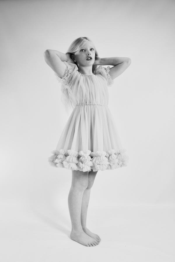 FRILLY DRESS - WHITE
