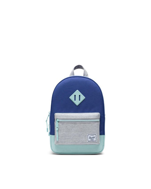 Heritage Backpack Kids - Orient Blue/Light Grey Crosshatch/Eggshell Blue