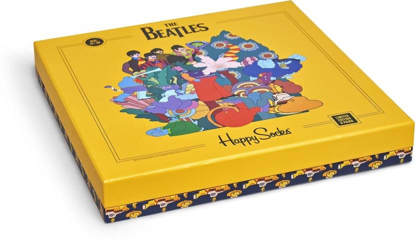 Happy socks - THE BEATLES COLLECTOR BOX SET(36-40)
