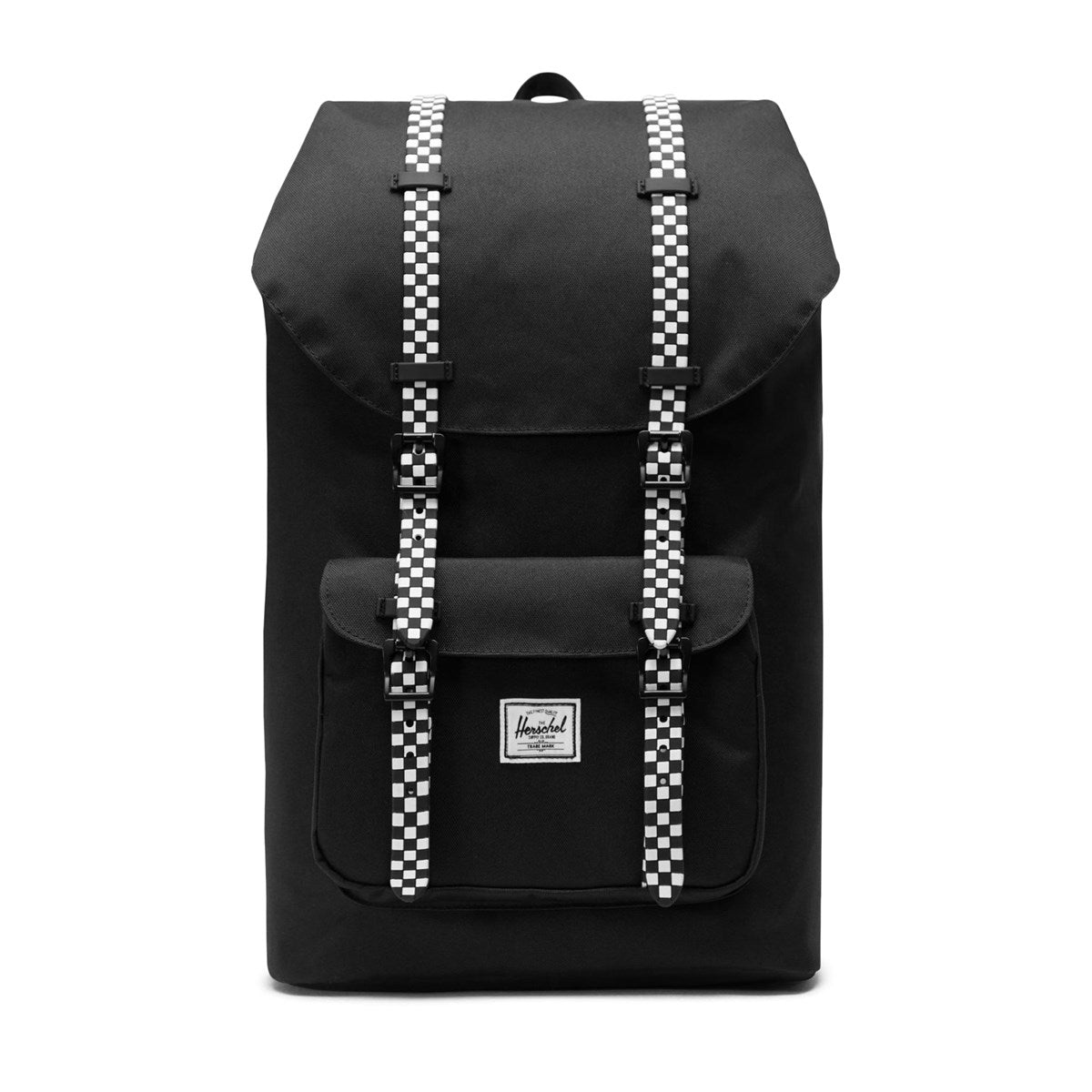 little america backpack- youth black checker