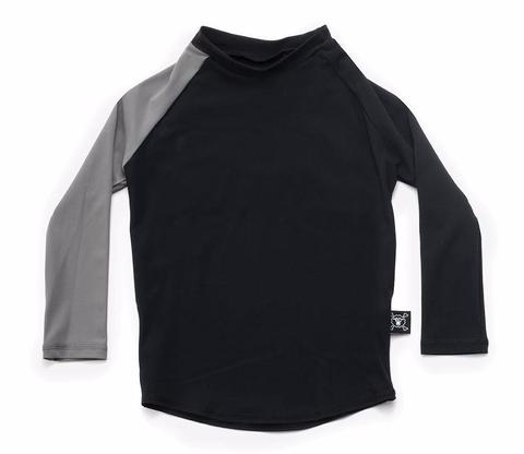 long sleeved rashguard - black/grey