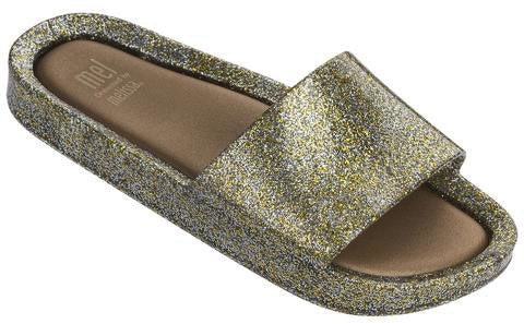 MEL beach slide - mixed golden glitter