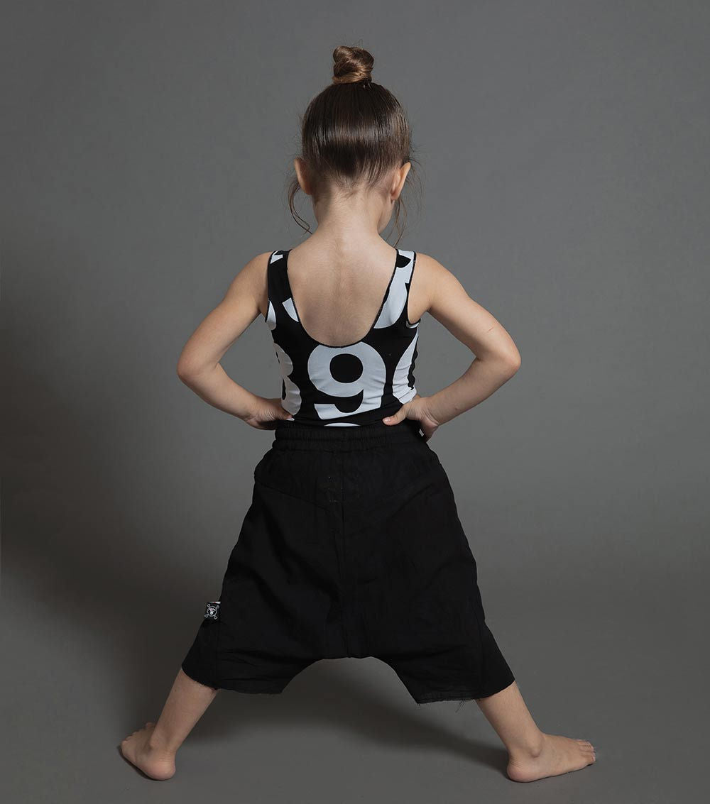 numbered swimsuit - black