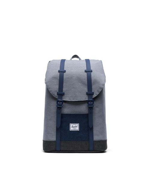 Retreat Backpack Youth - Mid Grey Crosshatch/Medieval Blue Crosshatch/Black Crosshatch