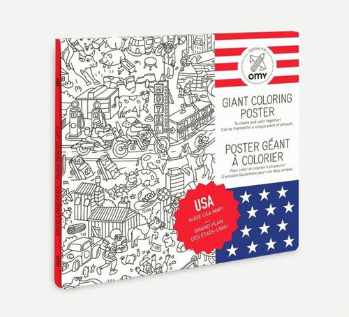POSTER Large frameable coloring poster - USA