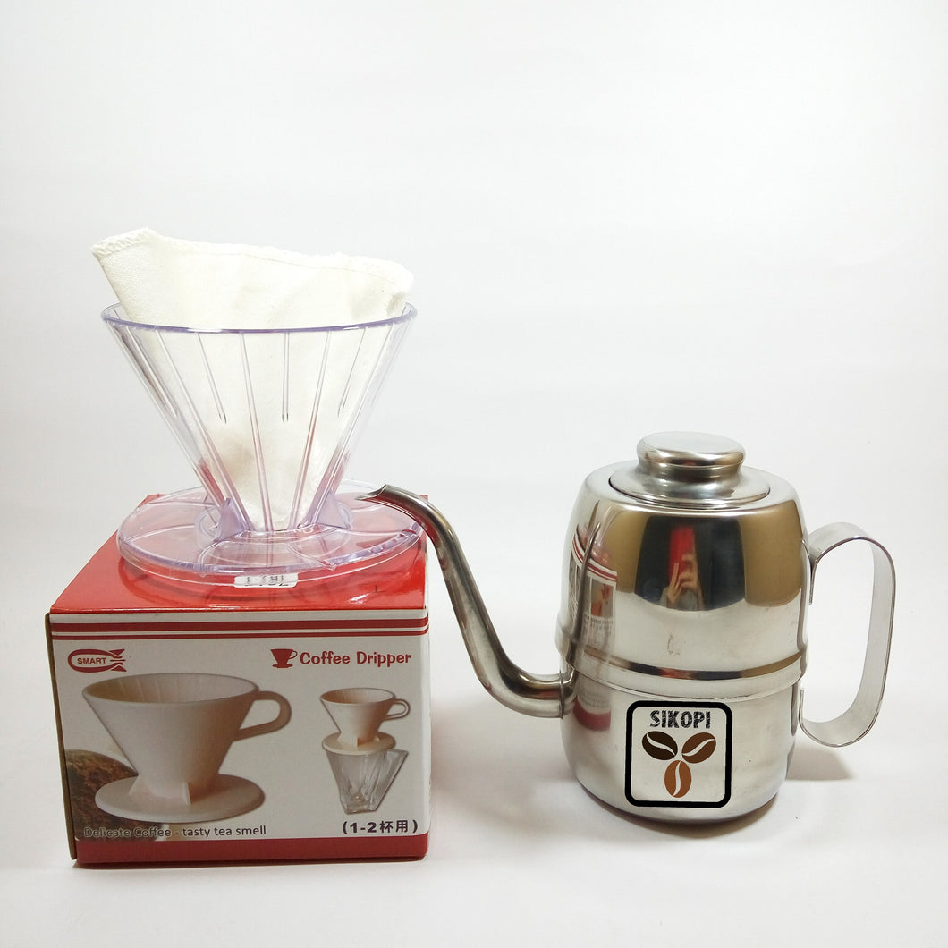 Paket Dripper Smart ala V60 + Kettle 450ml